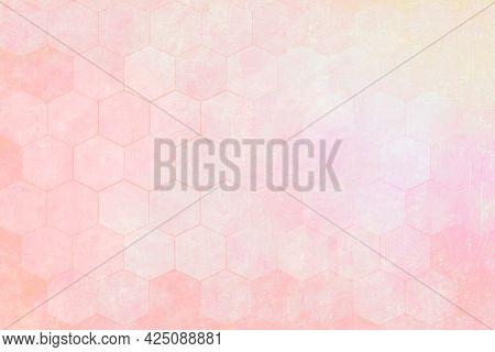 Pink hexagon pattern textured background