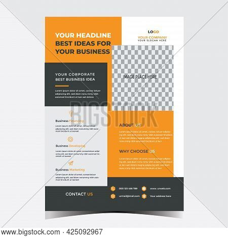 Corporate Multipurpose Business Flyer Design Template For Your Business Services Or Event