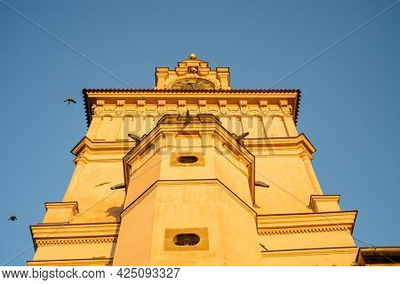 Tower Of Chateau Brandys Nad Labem In Czech Republic