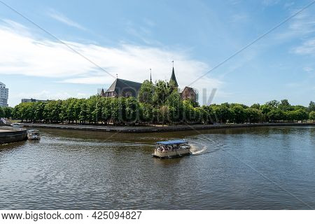 Kaliningrad, Russia-june 5, 2021: The Cathedral, The Symbol Of The City Of Kaliningrad And The Main