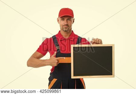 Handyman Services Concept. Handyman Professional Occupation. Available Hours. Reputable Master. Easy