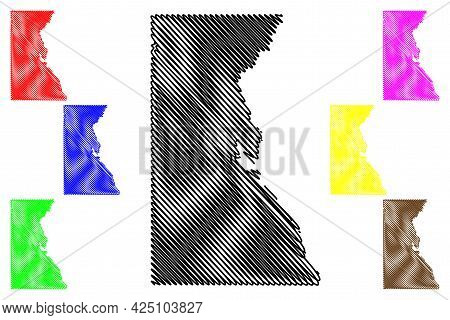 Juneau County, State Of Wisconsin (u.s. County, United States Of America, Us) Map Vector Illustratio