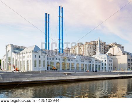 Moscow. Russia. June 26, 2021. Former Hydroelectric Power Plant No. 2 On Bolotnaya Embankment In The