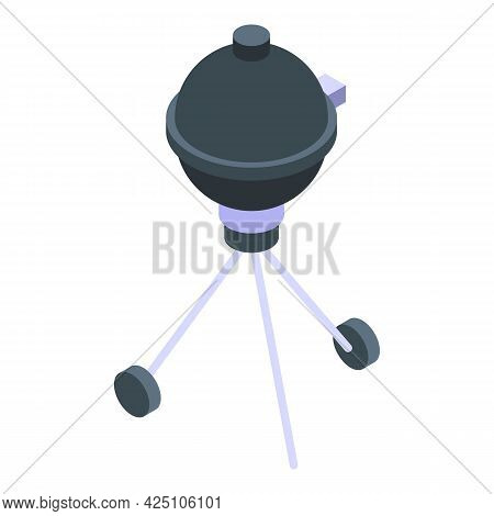 Cart Grill Icon Isometric Vector. Bbq Party Grill. Barbeque Meat Utensil