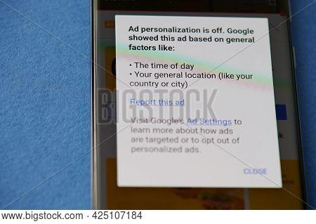 Changing Google Ad Settings