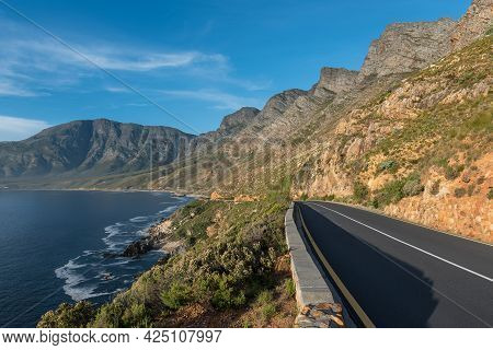 Clarence Drive Between Pringle Bay And Gordons Bay In The Western Cape Province