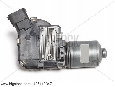 Wiper Mechanism Electric Motor - With A Reducer That Returns The Brushes To Their Place, As Well As