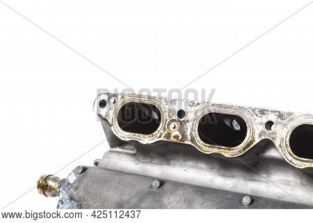 Intake Manifold Metal Housing With A System For Adjusting The Air Flow To The Engine. Repair And Rep