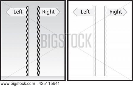 Optical Illusion - Poles Appear To Lean On The Side, But They Are Vertical And Parallel - Explanatio