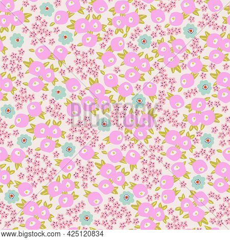 Vector Small Flower Illustration Motif Ditsy Seamless Repeat Pattern Digital File Pattern Artwork Ho