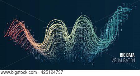 Filtering Machine Algorithms. Big Data Visualization. Information Analytics Concept. Sorting Data. V