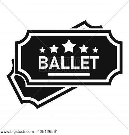 Ballet Ticket Icon Simple Vector. Theater Concert Opera. Ballet Theatre Event