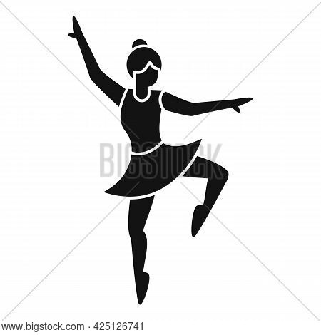 Ballerina Stage Icon Simple Vector. Ballet Dancer. Cute Dance Tutu