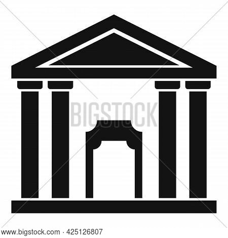 Theater Building Icon Simple Vector. City Theatre. Exterior Theater Building