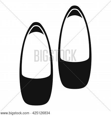 Ballerina Shoes Icon Simple Vector. Ballet Dance Girl. Woman Dancer