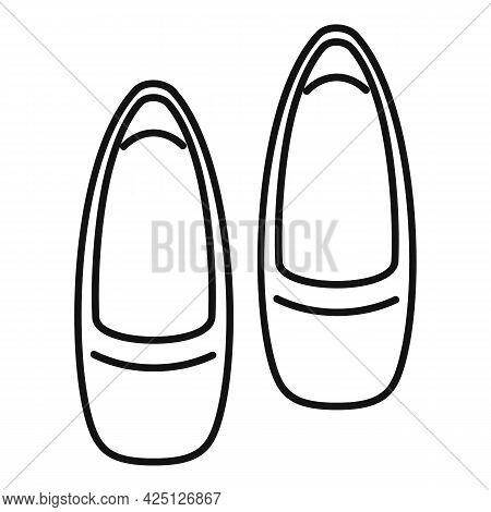 Ballerina Shoes Icon Outline Vector. Ballet Dance Girl. Woman Dancer