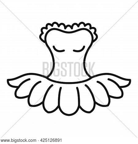 Ballet Dress Icon Outline Vector. Ballerina Dancer Dress. Ballet Kid Dance Clothes