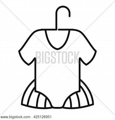 Ballet Kid Dress Icon Outline Vector. Ballerine Dance Girl. Tutu Dancer Dress