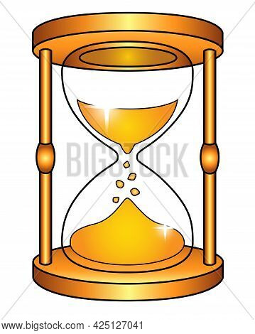 Hourglass - Vector Full Color Picture For Logo Or Pictogram. Hourglass - Icon Or Sign For Identity.