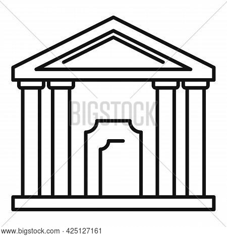 Theater Building Icon Outline Vector. City Theatre. Exterior Theater Building