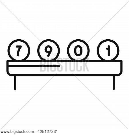 Lottery Balls Icon Outline Vector. Bingo Lotto Number. Keno Casino