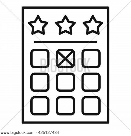 Win Lotto Ticket Icon Outline Vector. Lottery Prize. Lucky Coupon