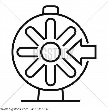 Lotto Wheel Icon Outline Vector. Lottery Bingo. Lucky Wheel Machine