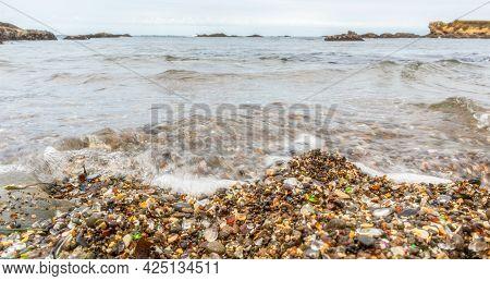 Famous Glass Beach In Fort Bragg, California