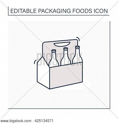 Beer Line Icon. Comfortable Box For Beer. Portion Control. Convenience In Distribution, Delivery.pac