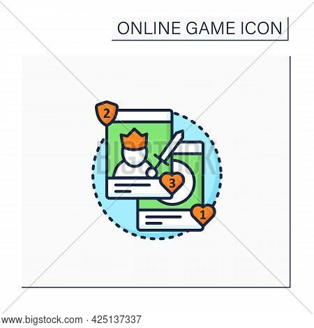 Collectible Card Games Color Icon. Board Games Use Special Card Sets. Exchanged Among Collectors. Ro