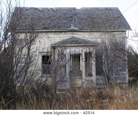 an abandoned farm house poster
