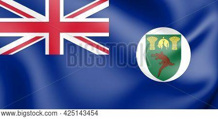 3d Territory Of Basutoland Flag (1884-1966). 3d Illustration.