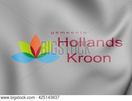 3d Flag Of Hollands Kroon (north Holland Province), Netherlands. 3d Illustration.