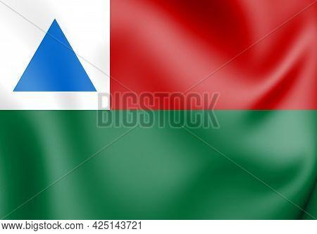 3d Flag Of Itagimirim (bahia), Brazil. 3d Illustration.