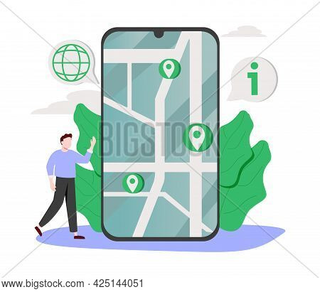 Company Information Abstract Concept Vector Illustration. About Us, Contact Us, Get Directions, Webs