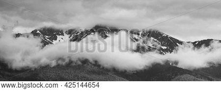 Scenic view over Rodnei mountains in Romania, Europe