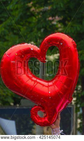 Love Heart At The Annual Gay Parade In Graz, Austria