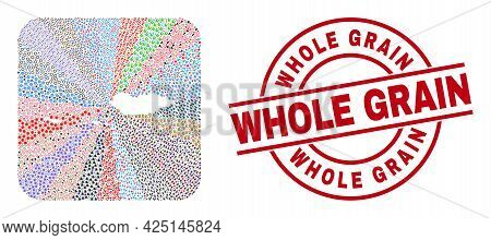 Vector Mosaic Socotra Archipelago Map Of Different Symbols And Whole Grain Seal Stamp. Mosaic Socotr