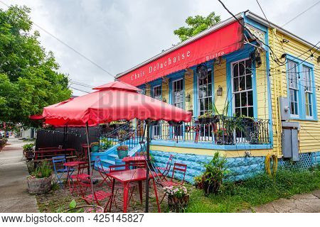 New Orleans, La - June 22: Chais Delachaise Bistro On Maple Street On June 22, 2021 In New Orleans,