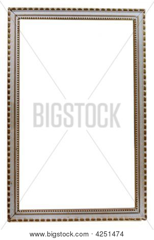 Table Vintage Photo Frame On White
