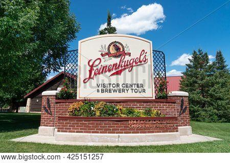Jacob Leinenkugel Brewing Company Visitor Center Exterior And Trademark Logo
