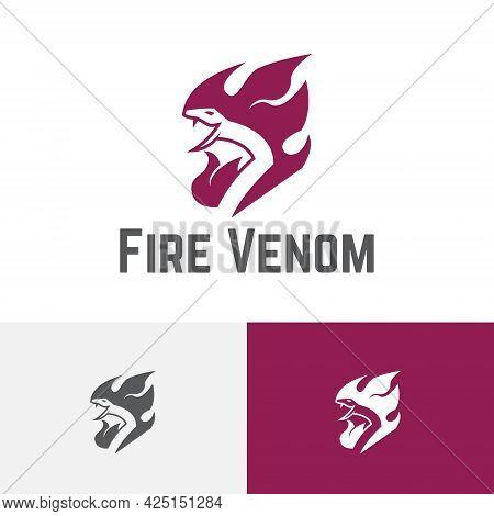 Fire Flame Venom Poisonous Snake Serpent Logo