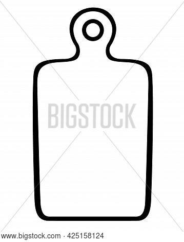 Cutting Board Hand Drawn Vector Isolated On White Background.