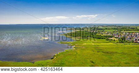 Beautiful landscape of Puck Bay at summer, Poland