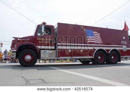 Freightliner Black Creek Fire Department Truck Side View