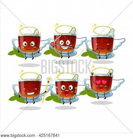 Mint Tea Cartoon Designs As A Cute Angel Character