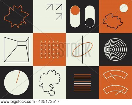 Abstract Geometric Vector Pattern. Futuristic Aesthetic Design For Cover Template, Poster, Business