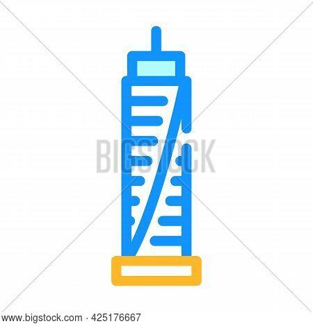 Skyscraper House Color Icon Vector. Skyscraper House Sign. Isolated Symbol Illustration