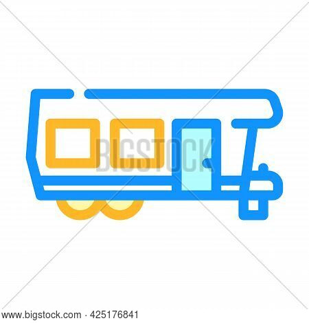 Camping House On Wheel Color Icon Vector. Camping House On Wheel Sign. Isolated Symbol Illustration