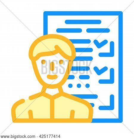 Customer Questionnaire Kyc Color Icon Vector. Customer Questionnaire Kyc Sign. Isolated Symbol Illus